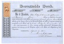 Barnstable Bank. Stock Certificate. 1864
