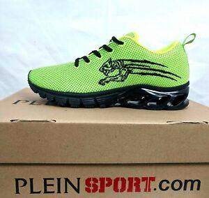 PHILIPP PLEIN NEW Men Thurmond Neon Yellow Running Sneakers Shoes US 7 EU 40 NIB