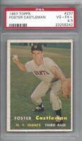 1957 Topps baseball card #237 Foster Castleman, New York Giants graded PSA 4.5