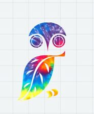 """Owl Tie Dye Decal Great for 20oz or 30oz Insulated Cups** item is 3""""H ***"""
