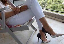 Zara Leather Court Heels for Women