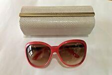Jimmy Choo STEPHANIE/S Sunglasses color AQFID Leather & gold, NUEVAS, BRAND NEW