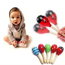 Popular Baby Kids Sound Music Toddler Rattle Musical Wooden Colorful Toys RDR