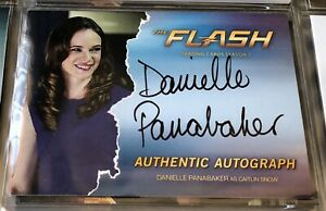 Danielle Panabaker Autograph Signed Card The Flash Season 1