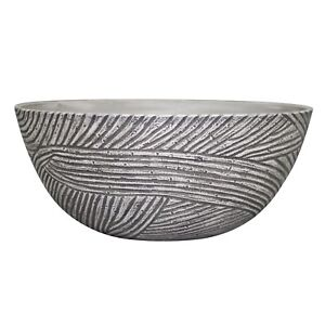 Northcote Pottery LINEAR BOWL 35x15cm High Density Resin ANTIQUE WHITE*AUS Brand
