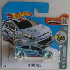 Hot Wheels 2016 157 of 250 '12 Ford Fiesta New & Carded Hotwheels Snow Stormers