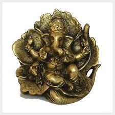 Hoja Ganesha de latón 11 cm 1 kg india gramos el Tíbet nepal suerte Dios hinduismo