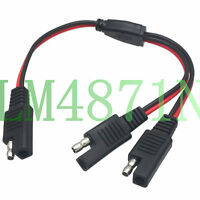 SAE 2pin Charging adapter DC POWER 12V PARALLEL Y splitter Cable LED light wire