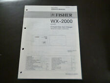 Original Service Manual Schaltplan Fisher WX-2000