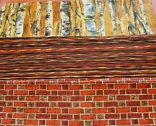 100% Cotton Quilting Fabric Great For Art Quilts Trees, Brick and Streaks