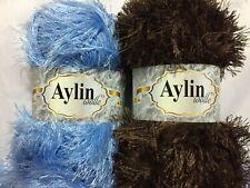 100 g Fransengarn Ayda Fransenwolle multicolor zweifarbig fr Farbwahl