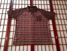 Perry Ellis Brown Striped Casual Shirt Mens Apparel Sze 2XL Big & Tall Garment