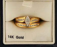 Yellow Gold 14k Engagement & Wedding Ring Sets