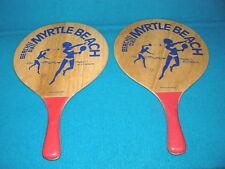 Vintage! BEACH BALL Paddle Set MYRTLE BEACH Grand Stand @ RACQUET