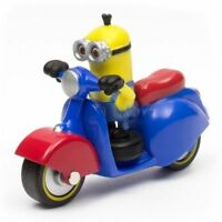 NEW Despicable Me Minions Die Cast Vehicle Cute Toy Gift Minion Tim with Scooter