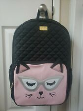 NWT Luv Betsey Johnson XL Backpack Quilted Cats LBBROOK School Bag RV$98