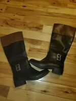 Women's Two-Tone Boots *SZ 8 1/2* Arizona Jean Co. Black / Brown EUC