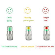 1 x Monitor de presión para Neumáticos Válvula Sensor De Tapa De AIRE CALIBRADOR INDICADOR 3 Color