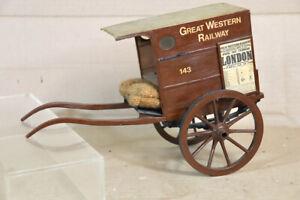 SCRATCH BUILT GREAT WESTERN RAILWAY GWR HORSE DRAWN DELIVERY CART WAGON MODEL oa