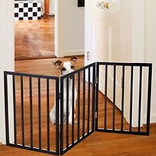 Folding Free Standing Walk Over Gate Versatile Panel Cat Dog Pet Fence Home New