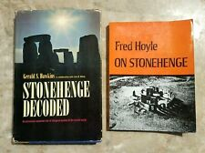 (Lot of 2)  Stonehenge Decoded Gerald Hawkins 1st edition + DJ + Fred Hoyle