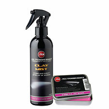 Autobright Detailing Fine Clay Bar Kit 100g & Car Cleaning 250ml Clay Mist