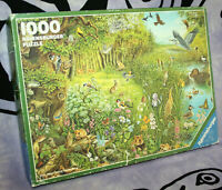 Rare Vintage RAVENSBURGER Jigsaw Puzzle ENDANGERED SPECIES Nature 1000 Pieces