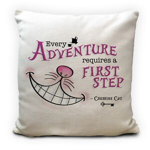 Alice in Wonderland Cushion Cover Cheshire Cat Every Adventure 16 inches 40 cm