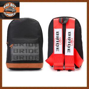 Bride JDM Style Motorsport Backpack Bag Rucksack Racing Harness Straps RED