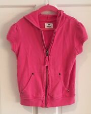 Girl's Pink Short Sleeved Sweatshirt Size Medium by Old Navy Fantastic Condition