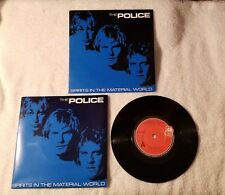 THE POLICE Spirits in the Material World Low Life 7 UK Vinyl Single 45 PS POSTER