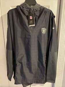 Nike OnField Raiders NFL Lightweight Hooded Windbreaker Jacket CJ8570-010 XL