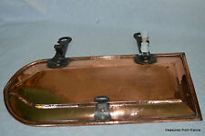 french vintage antique drip pan jus tin lined copper cuivre kupfer lèchefrite
