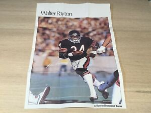 Walter Payton sports illustrated quaker chewy granola bars poster 1987