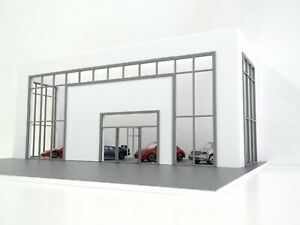 BIG Model Car Display Diorama Kit Auto Shop Showroom Car Store Scale 1:43