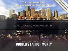 2010 AUSTRALIA MINT SET WORLD MONEY COIN FAIR BOSTON 6 coin UNC Set