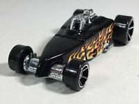 Hot Wheels 2007 Tire Fryer Black Orange Flames HW Engine Revealers Series Loose