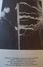 Ken Strickfaden Dr. Frankenstein's Electrician Goldman Sci-Fi Monster movie Lab