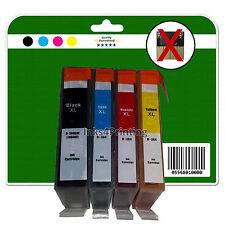 4 non-chipped non-OEM Ink Cartridges for HP 5510 5515 5520 5524 6510 364 x4