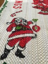 Table Runner Sofa Runner Santa Christmas Tree Candy Cane Season's Greetings