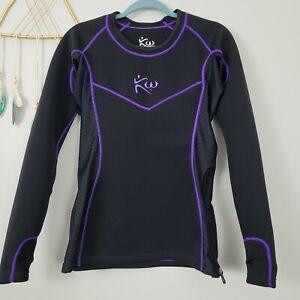Kutting Weight Sauna Suit Women's Long-Sleeve Shirt Sz M Black Purple Neoprene