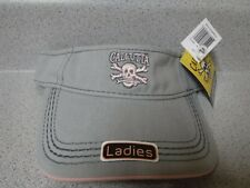 NEW Calcutta Gray Visor for Ladies With Pink Logo