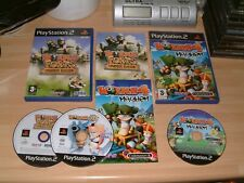 WORMS 3D + 4 MAYHEM + FORTS UNDER SIEGE .... SONY PS2 PLAYSTATION 2 GAMES