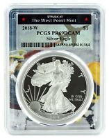 2018 W Silver Eagle Proof  PCGS PR69 DCAM  - West Point Frame