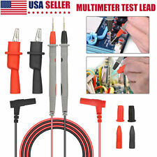 20a Digital Multimeter Meter Universal Probe Wire Cable Test Lead Alligator Clip