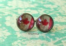 16 mm Old vintage Canada Canadian flags Cuff Links ,Mens Accessories