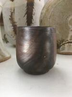 Vintage Mid Century Modern /Hollywood Regency Ceramic Raku Pottery / Vase