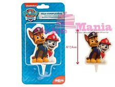 CANDELINA PAW PATROL CAGNOLINI DISNEY IN 2D FESTA PARTY COMPLEANNO CANDELA