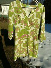 NWOT Boden Casual Linen Tunic Dress Print 3/4 Sleeve Sz US 6 UK10