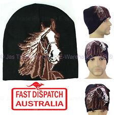 Winter Unisex Men Ear Head Warmer Skull Knit Animal Lover Beanie Hat Knit Horse